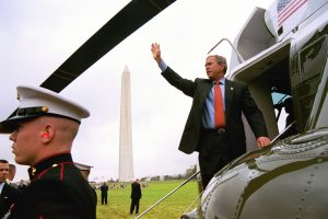 George W. Bush, from Marine One